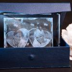 Glafoto mit Geschenkbox