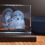 Foto in Glas gelasert
