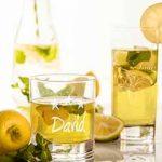 Trinkglas mit Gravur