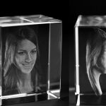 Glasfoto in 3D Profil